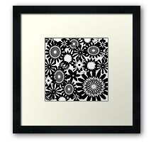 Black and White Toile Pattern #1 Framed Print