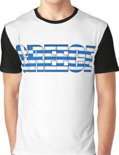 Greece Flag Graphic T-Shirt