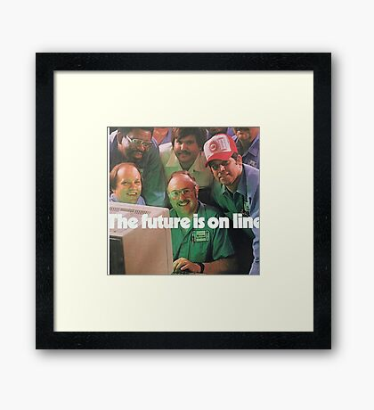 The Future Is Online Framed Print