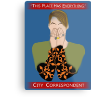 The City Correspondent Metal Print