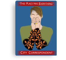 The City Correspondent Canvas Print
