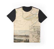 Map of Boston 1880 Graphic T-Shirt