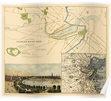 Map of Boston 1880 Poster