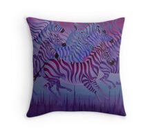 """Flying over the city"" Throw Pillow"