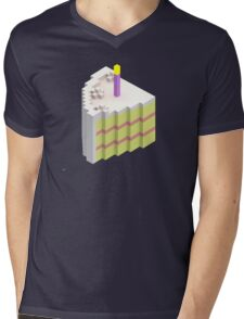 Piece of Cake Mens V-Neck T-Shirt