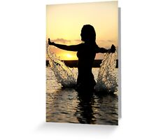 Water wings Greeting Card