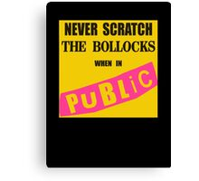 Polite Punk Wear Canvas Print