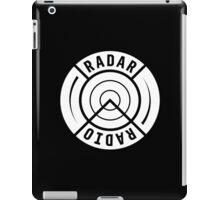 RADAR RADIO BACK PRINT / WHITE - GRIME iPad Case/Skin