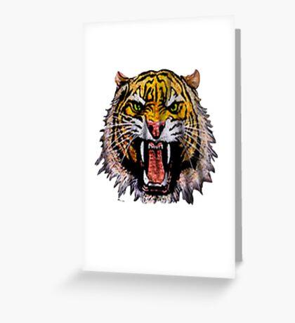 Tekken - Heihachi Tiger Greeting Card