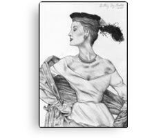 1950's Model Canvas Print