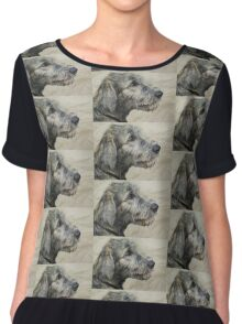 Irish Wolfhound Puppy Chiffon Top