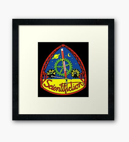 Scientifiction Science Fiction Framed Print