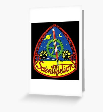 Scientifiction Science Fiction Greeting Card