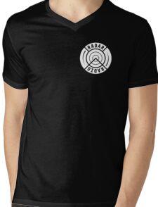 RADAR RADIO FRONT CORNER / BLACK - GRIME Mens V-Neck T-Shirt