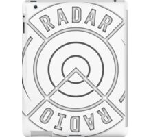 RADAR RADIO FRONT CORNER / BLACK - GRIME iPad Case/Skin