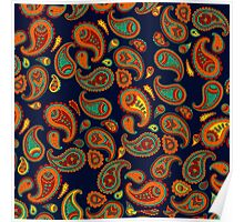 Colorful Indian Daisy Pattern Poster