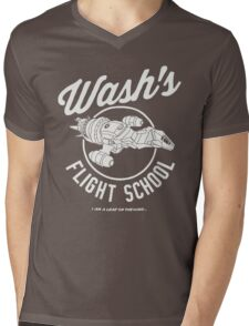Firefly Wash's Flight School Mens V-Neck T-Shirt