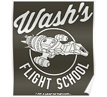 Firefly Wash's Flight School Poster