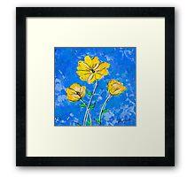 In Full Bloom Blue by Jan Marvin Framed Print