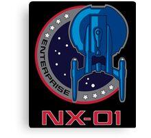 Enterprise NX-01 Away Team Canvas Print