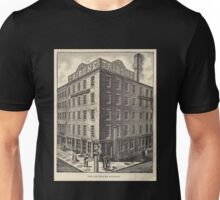 587 The Old Tribune building Photo Electrotype Co NY On building to left sign Daily witness Unisex T-Shirt