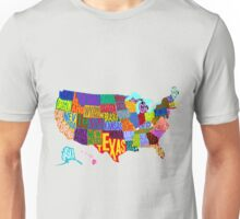 United States Color Word Cloud Unisex T-Shirt