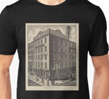 588 The Old Tribune building Photo Electrotype Co NY On building to left sign Daily witness Unisex T-Shirt