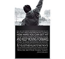 Rocky Balboa Poster Photographic Print
