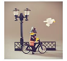 Police bike Patrol Photographic Print