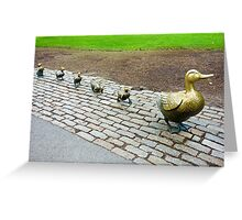 Make Way for Ducklings Study 3  Greeting Card