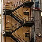 External Staircase on a Building in the Sydney CBD by Wolf Sverak