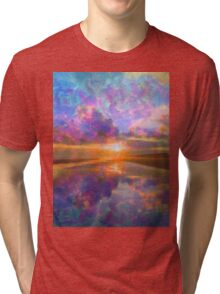 Colorful Sunset by Jan Marvin Tri-blend T-Shirt