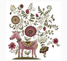 Deer of flowers Kids Clothes