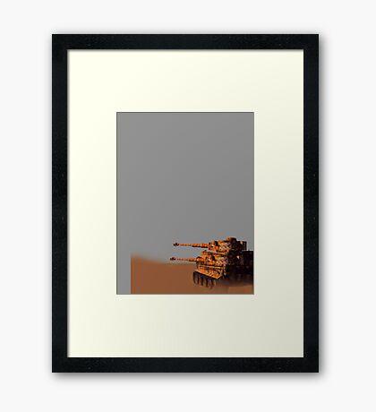 Tiger tank squad Framed Print