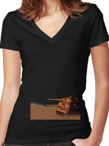 Tiger tank squad Women's Fitted V-Neck T-Shirt