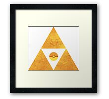 Triforce nintendo Framed Print