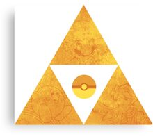 Triforce nintendo Canvas Print