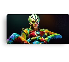 Jaylah is a bright and colourful lady Canvas Print