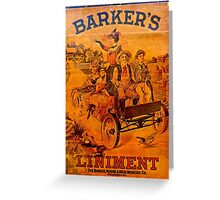 Vintage Ad Barkers Liniment Greeting Card