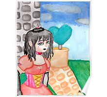 Queen Charity stands in her Backyard Poster