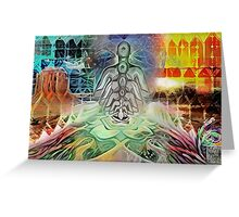 Deep Meditation Greeting Card