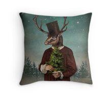 Mr Reindeer Throw Pillow