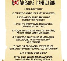 The Ten Tenets of Awesome Fanfiction by Horrible People Productions