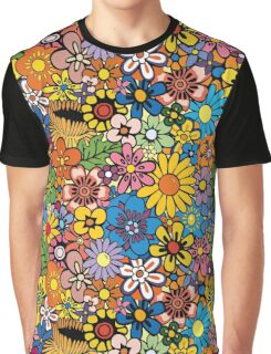Colorful flowers background Graphic T-Shirt