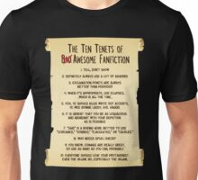 The Ten Tenets of Awesome Fanfiction Unisex T-Shirt