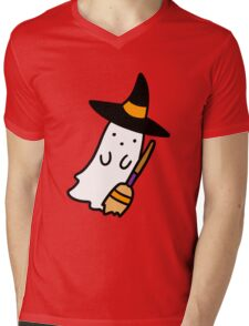 Ghost Witch Mens V-Neck T-Shirt