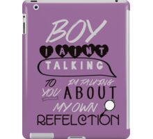 Reflection Typography iPad Case/Skin