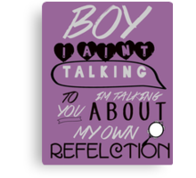 Reflection Typography Canvas Print