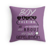 Reflection Typography Throw Pillow