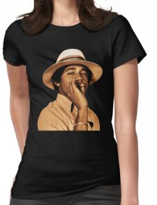 young obama smoke classic Womens Fitted T-Shirt